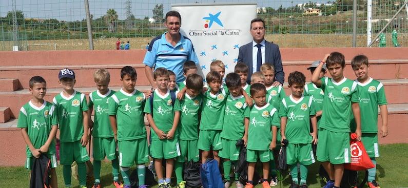Colaboración de la Obra Social La Caixa con Campus de Fútbol Marbella